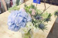 A Blue Flower Arrangement in Memory of Archer I