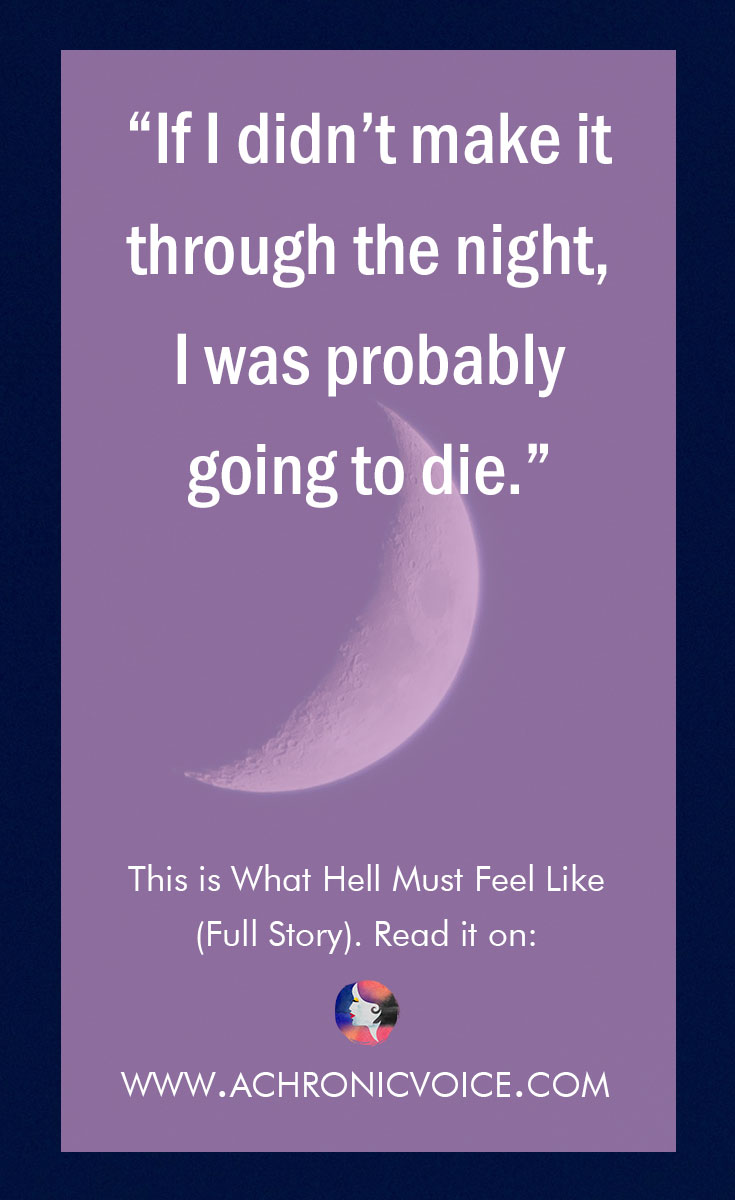 """If I didn't make it through the night, I was probably going to die."" Click to read or pin to save for later. 