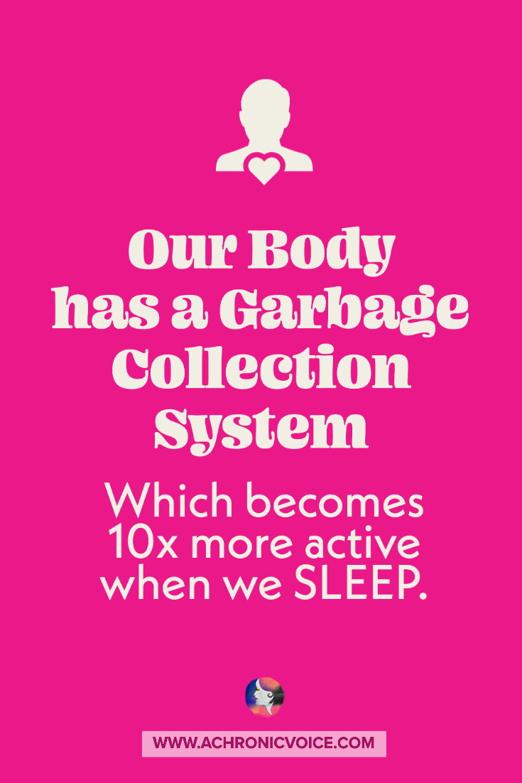 Our Body has a Garbage Collection System Which Becomes 10x More Active When We Sleep