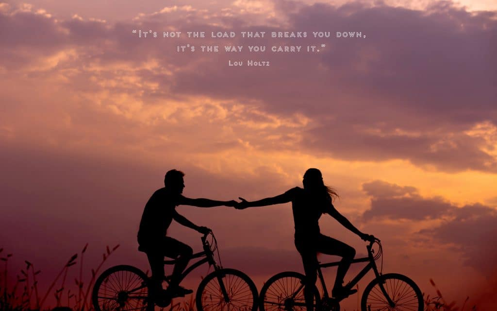 It's Not the Load Quote (Bicycle) | Desktop | A Chronic Voice