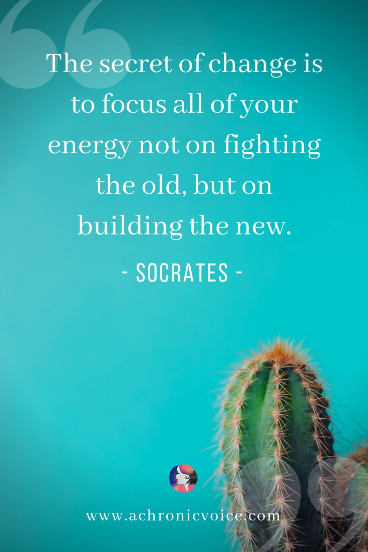 """The secret of change is to focus all of your energy not on fighting the old, but on building the new."" – Socrates 
