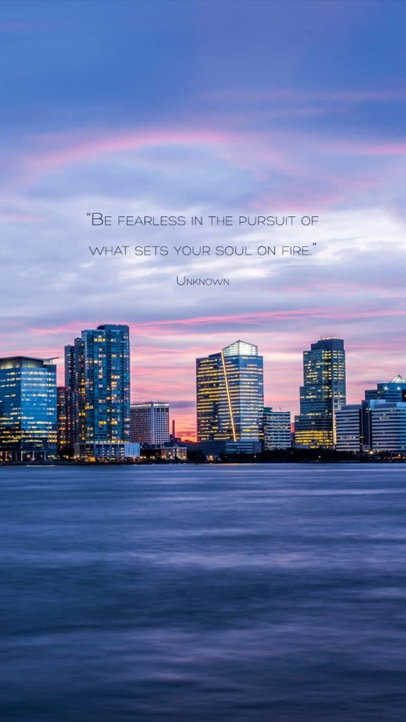Download Wallpapers for Free on A Chronic Voice: What Sets Your Soul on Fire? | City Skyline Version for Mobile