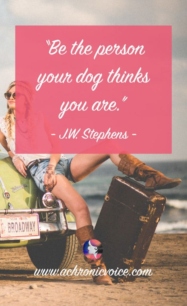 "Download Free Wallpapers: ""Be the person your dog thinks you are."" - J.W. Stephens 