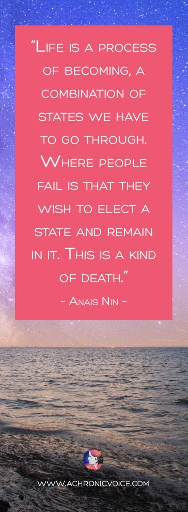 """Download Free Wallpapers on A Chronic Voice: """"Life is a process of becoming, a combination of states we have to go through. Where people fail is that they wish to elect a state and remain in it. This is a kind of death."""" – Anais Nin"""