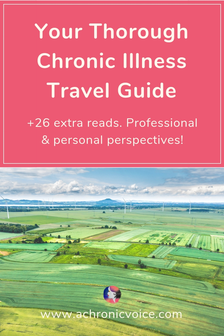 Travelling is a great way to gain some perspective, yet can be tricky with chronic illness. Check out these useful tips and resources in this travel guide. Click to read or pin to save for later. ////////// chronic illness / spoonie travels / self care / mental health #chronicillness #spoonielife #travelguide