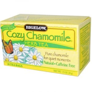 Bigelow, Cozy Chamomile Herb Tea, Caffeine Free, 20 Tea Bags, .73 oz (20 g)