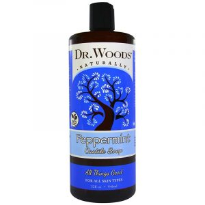 Dr. Woods Castile Soap, 32 fl oz (946 ml) (Peppermint)
