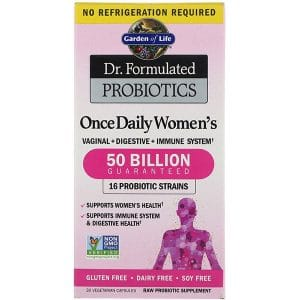 Garden of Life, Dr. Formulated Probiotics, Once Daily Women's, 30 Vegetarian Capsules