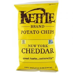 Kettle Foods: Potato Chips, 5 oz (142 g) (New York Cheddar)