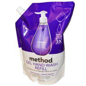 Method, Gel Hand Wash Refill, French Lavender, 34 fl oz (1 L)