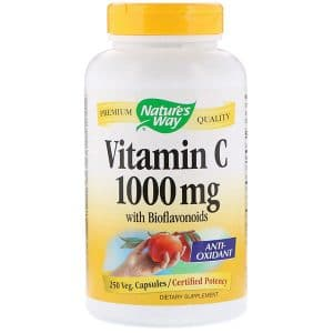 Nature's Way, Vitamin C with Bioflavonoids, 1,000 mg, 250 Veg. Capsules