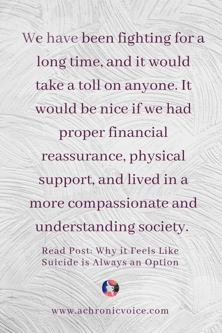 'We have been fighting for a long time, and it would take a toll on anyone. It would be nice if we had proper financial reassurance, physical support, and lived in a more compassionate and understanding society.' Pinterest Quote