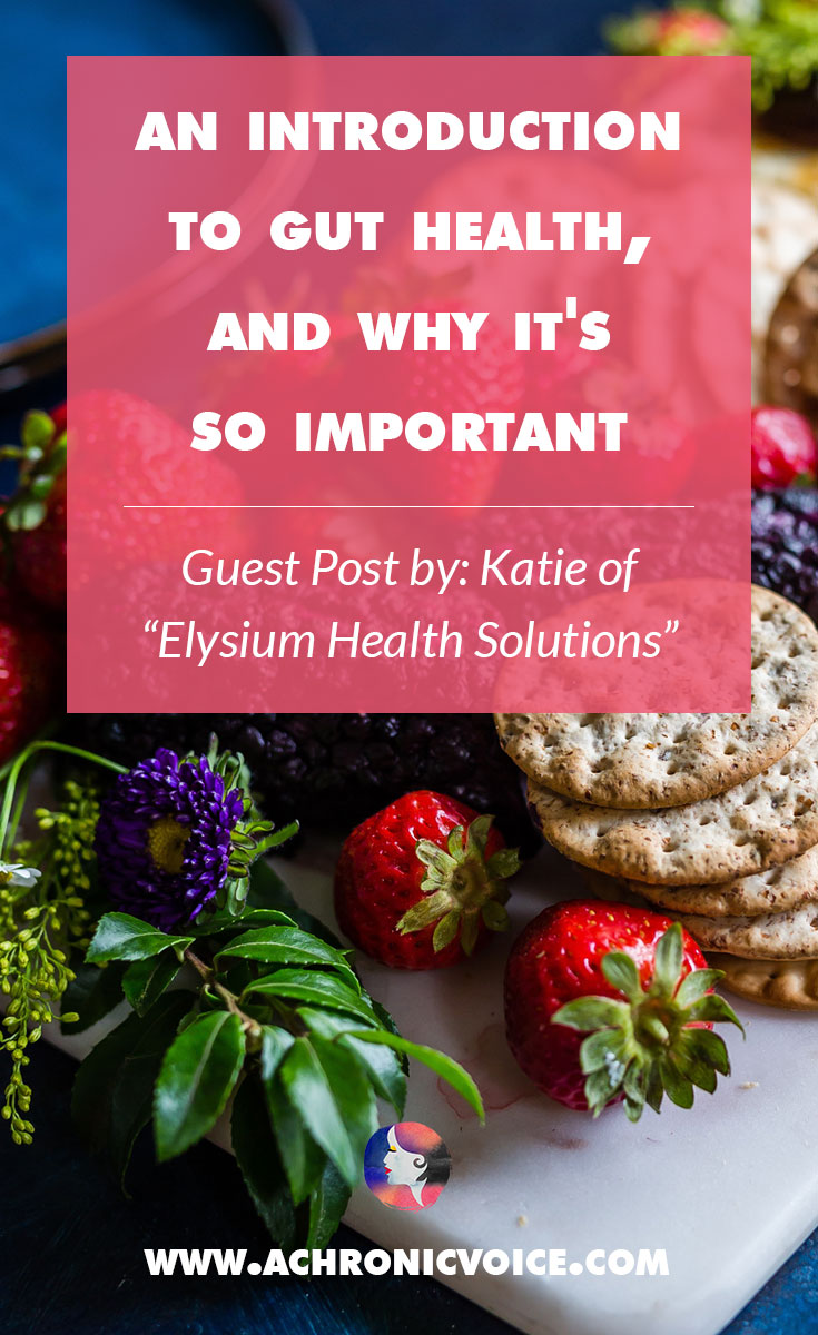 Katie is a qualified naturopath; in this article she shares her knowledge about gut health, and its role in managing autoimmune diseases and flare ups. Click to read or pin to save for later. | www.achronicvoice.com