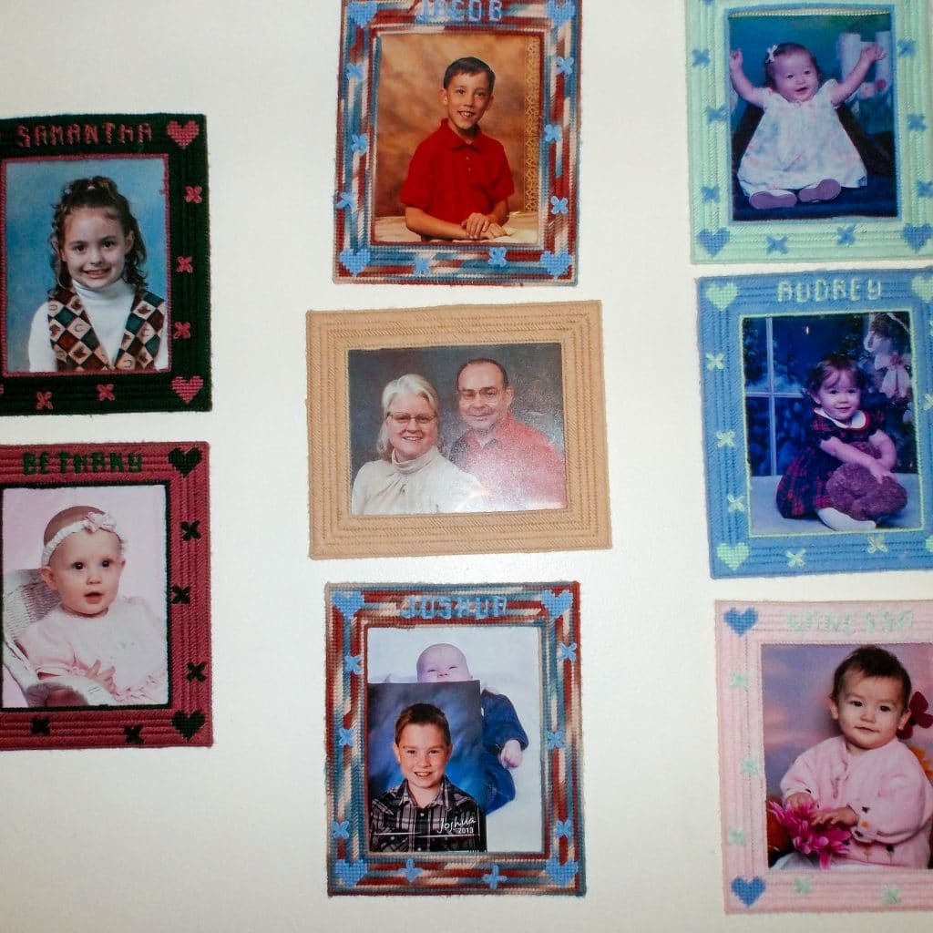 "Carole's wall of seven grandkids | ""It's in My Blood"" 