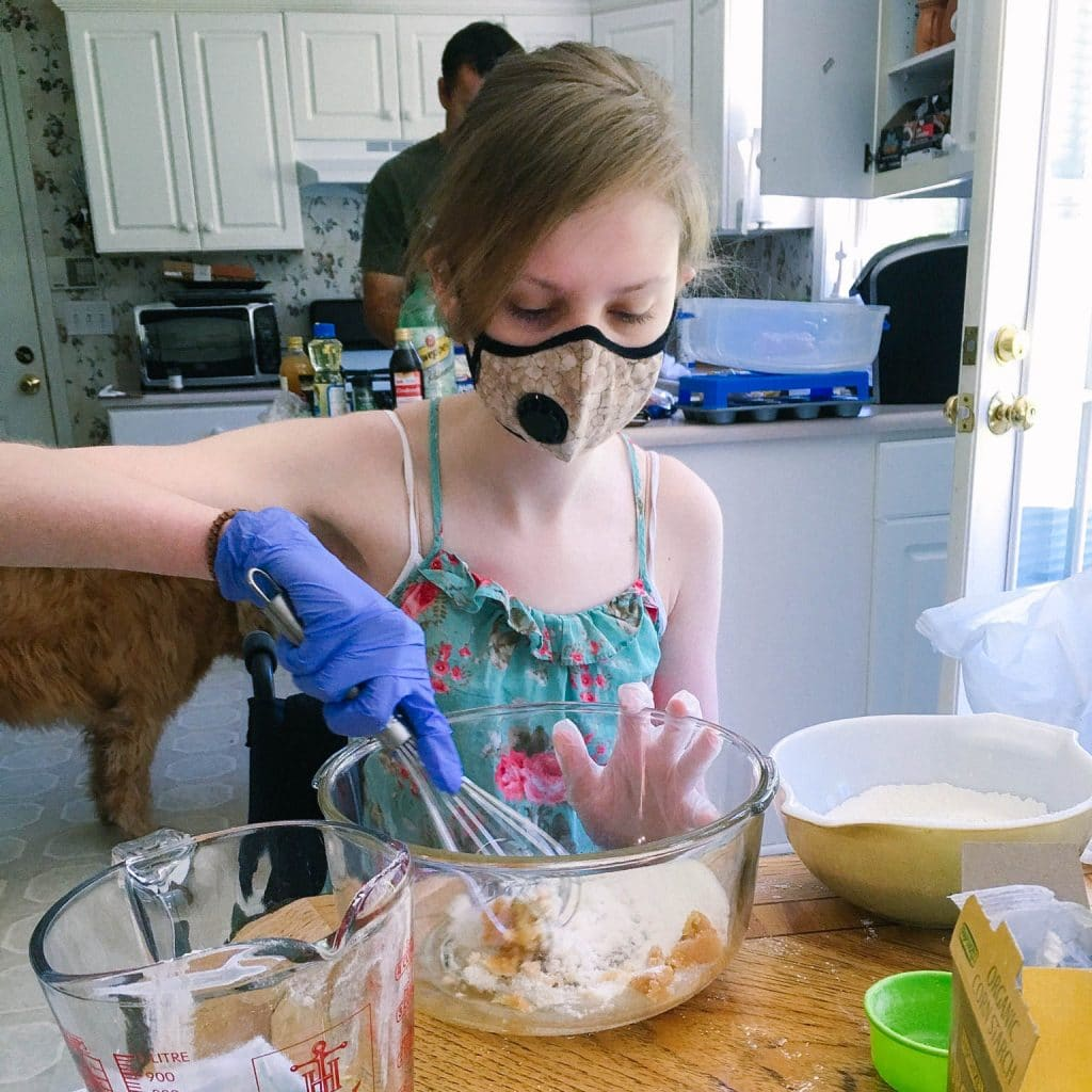 """Mast Cell Disease renders me airborne reactive to foods"". Cheyanne Perry vegan baking 