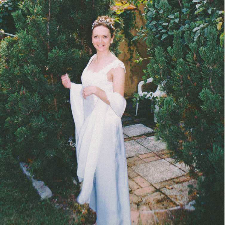 Handmade wedding dress by Jayne Bailey