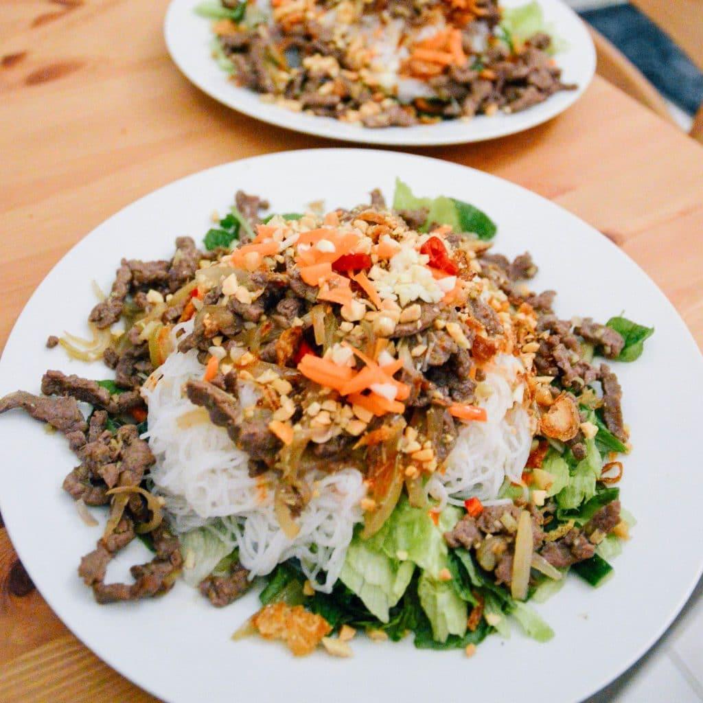 Homemade Vietnamese bun bo