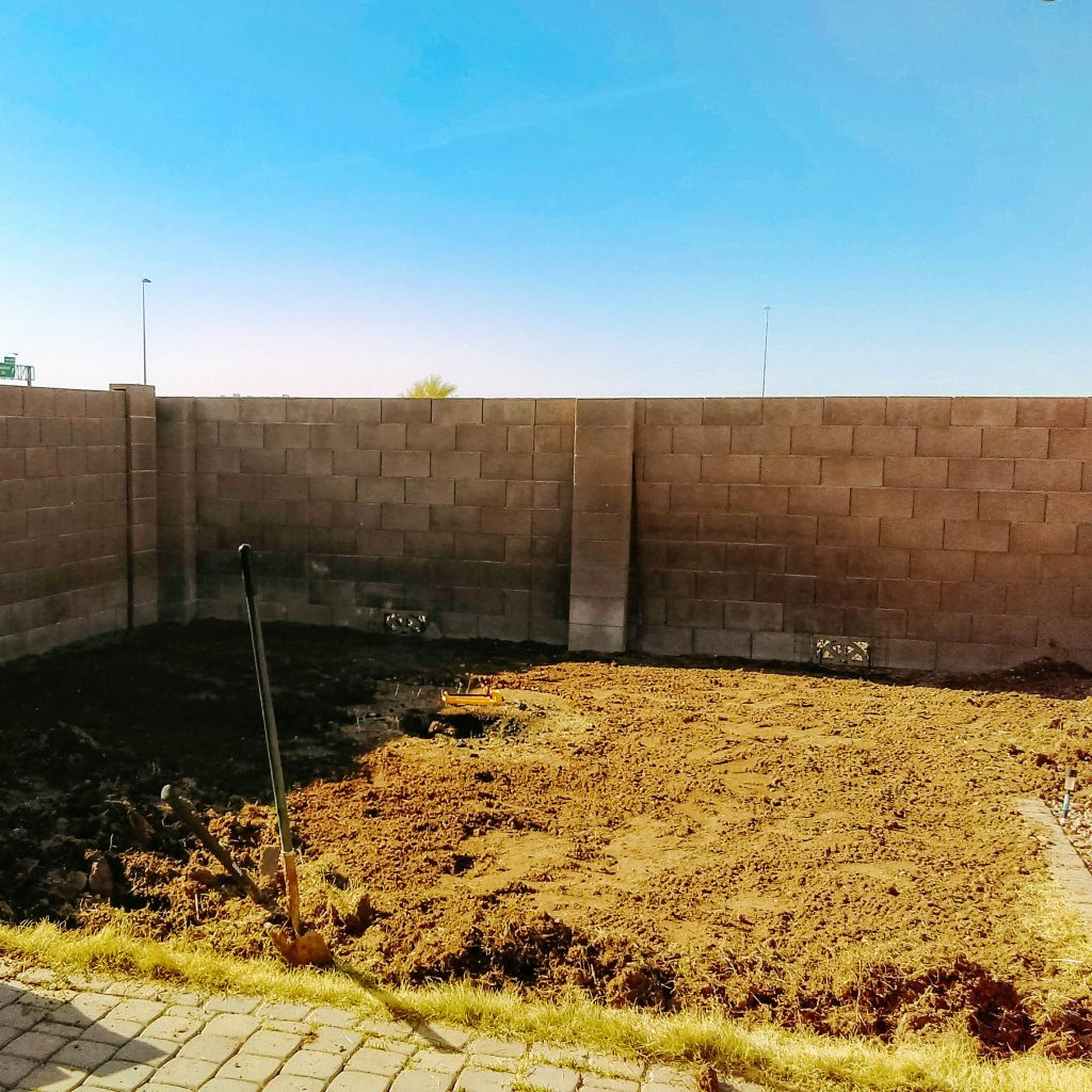 Garden, before.