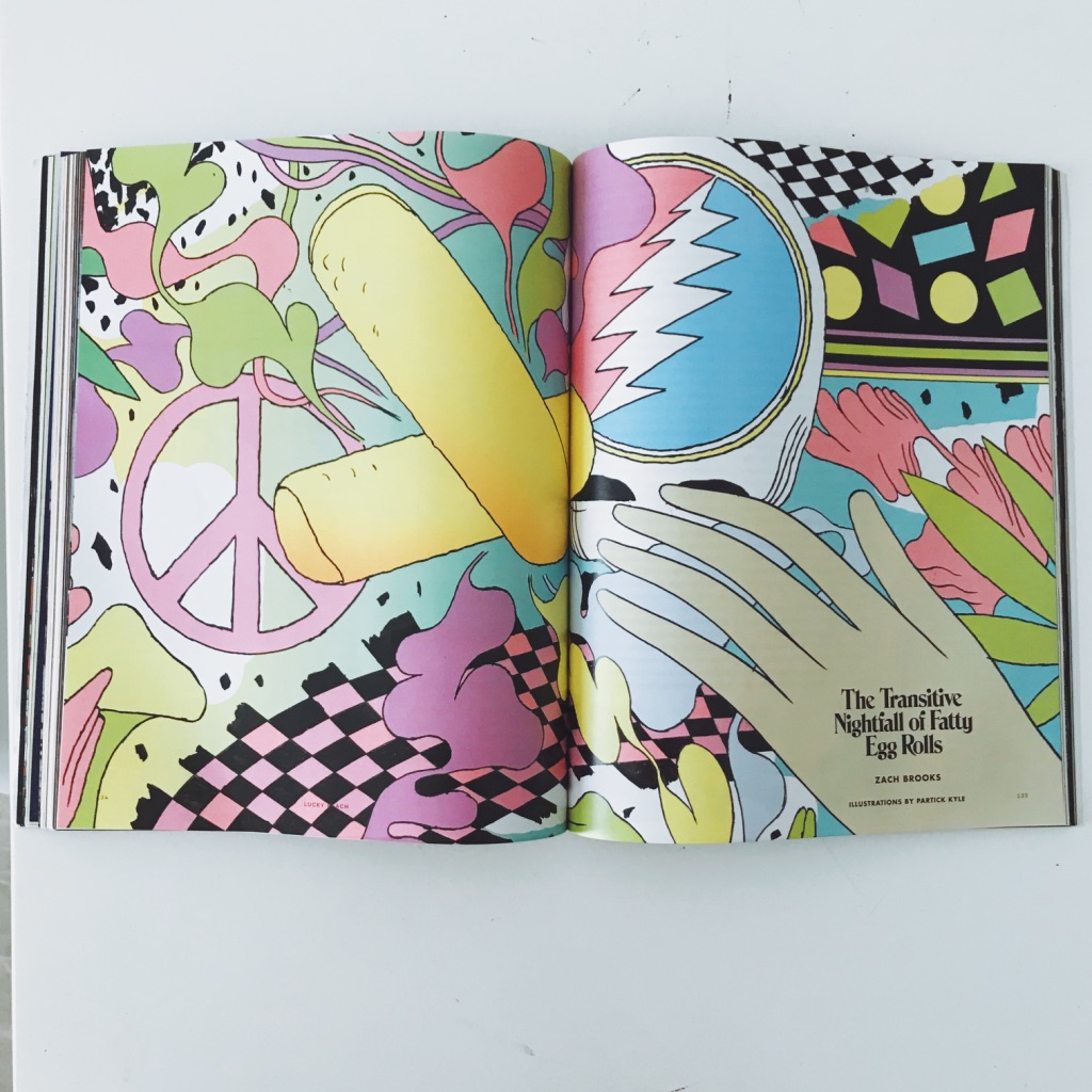 Colourful graphics. Lucky Peach's last issue ever magazine review. | www.achronicvoice.com