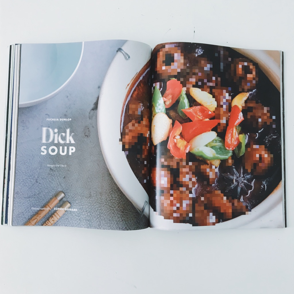 Dick soup. Lucky Peach's last issue ever magazine review. | www.achronicvoice.com