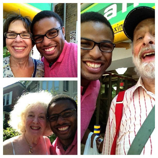 With Mentors Sharon (Top Left) Lois (Bottom Left) and Bram(Right) Fall 2013