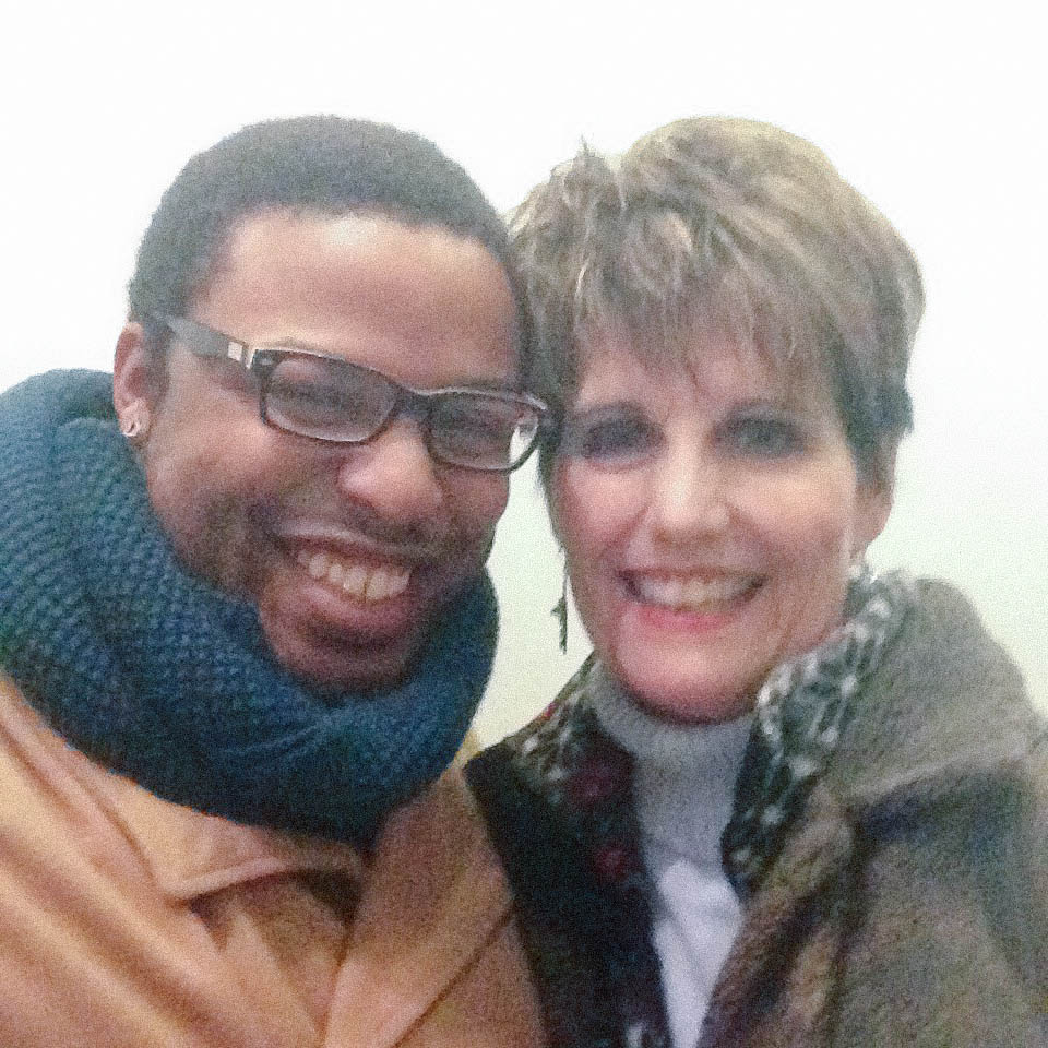 With friend and mentor Lucie Arnaz - yes THAT Lucie Arnaz