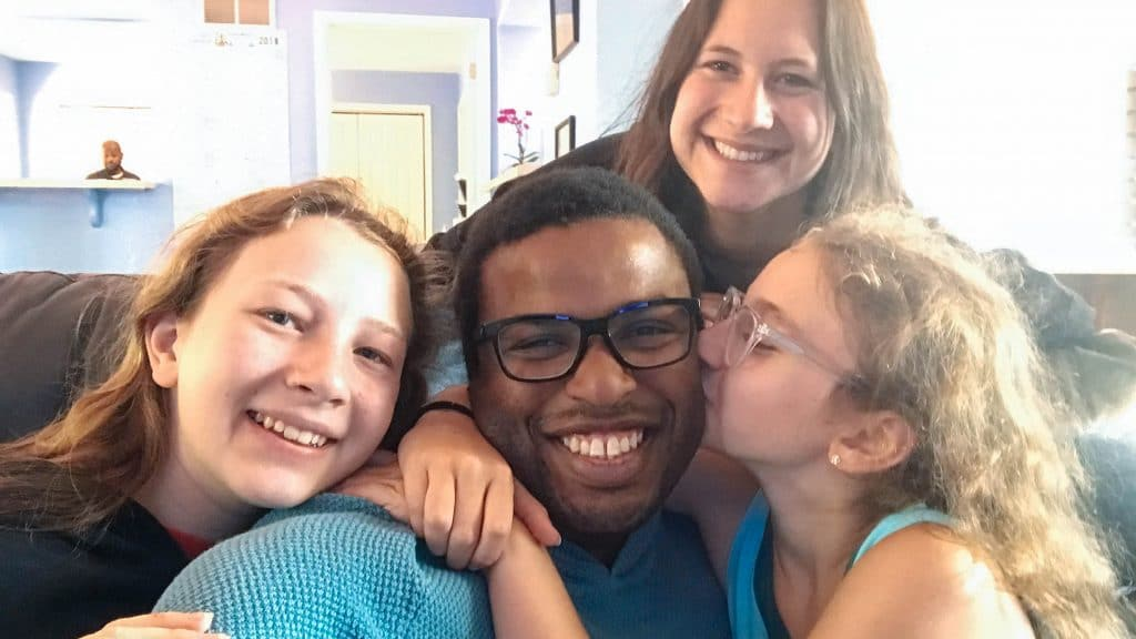 3 sisters and one of their favorite counselors. Summer 2017