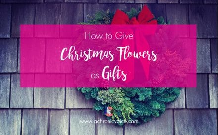 How to Give Christmas Flowers as Gifts | www.achronicvoice.com