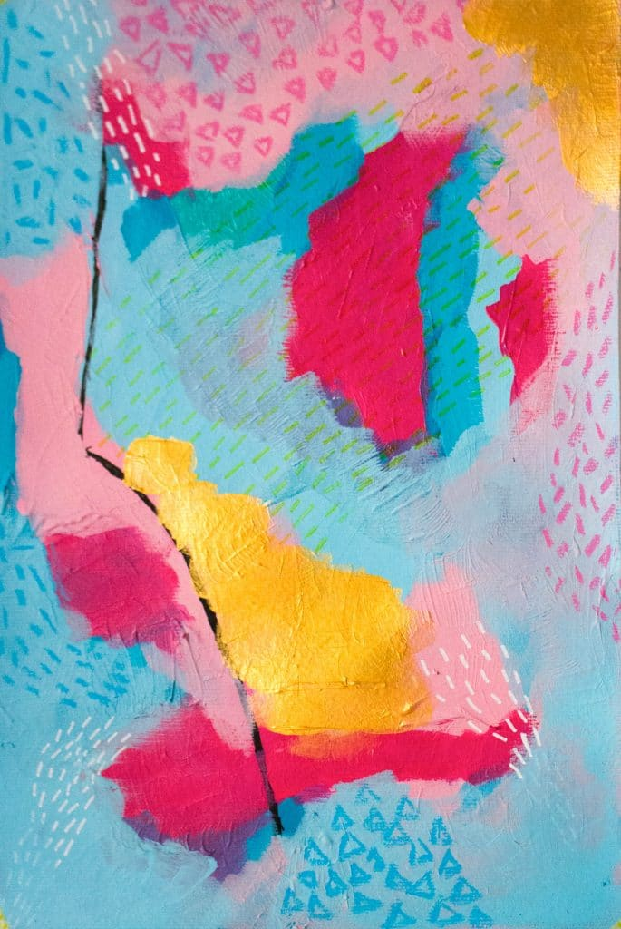 'Storm', an abstract painting by Sarah