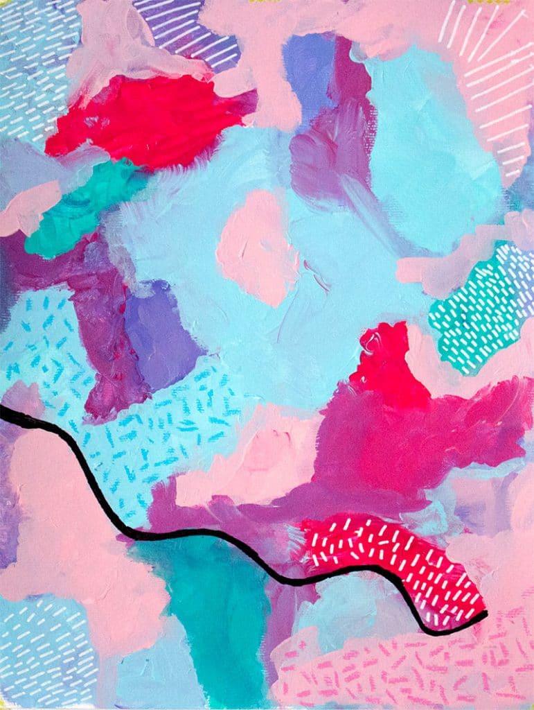'Ocean', Sarah's first painting
