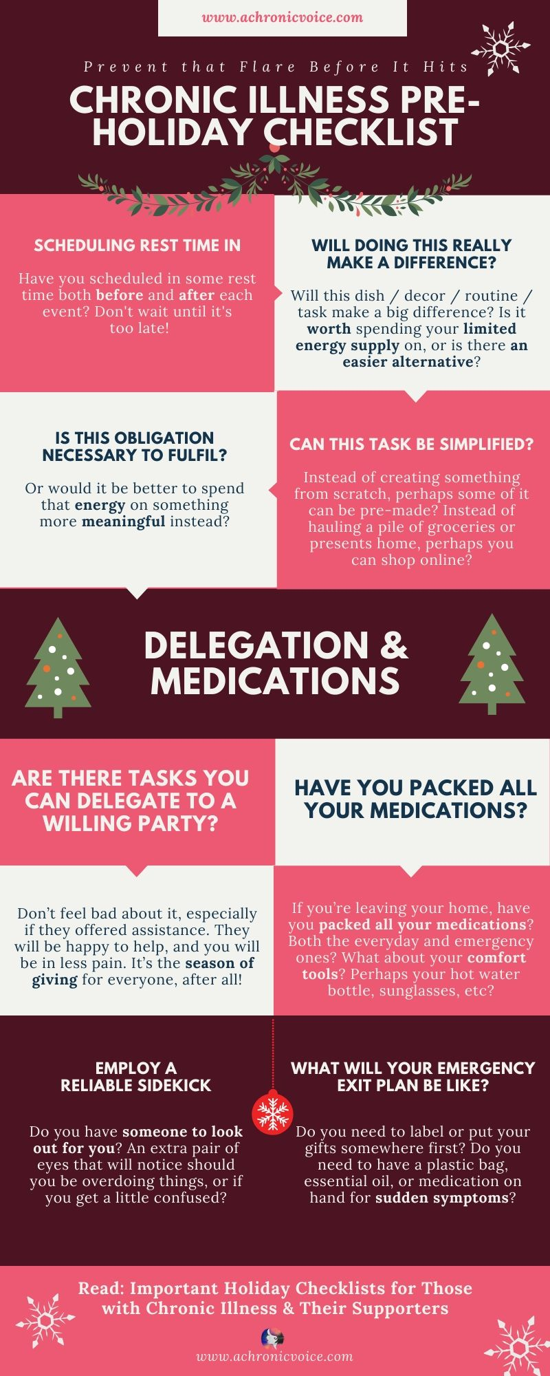 Your Pre-Holiday Self-Care Checklist with Chronic Illnesses Infographic