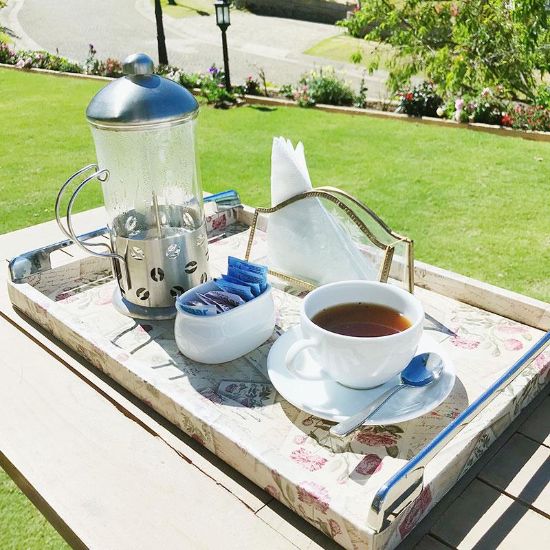 A cup of weak coffee in the garden, Nuwara Eliya, Sri Lanka. | www.achronicvoice.com