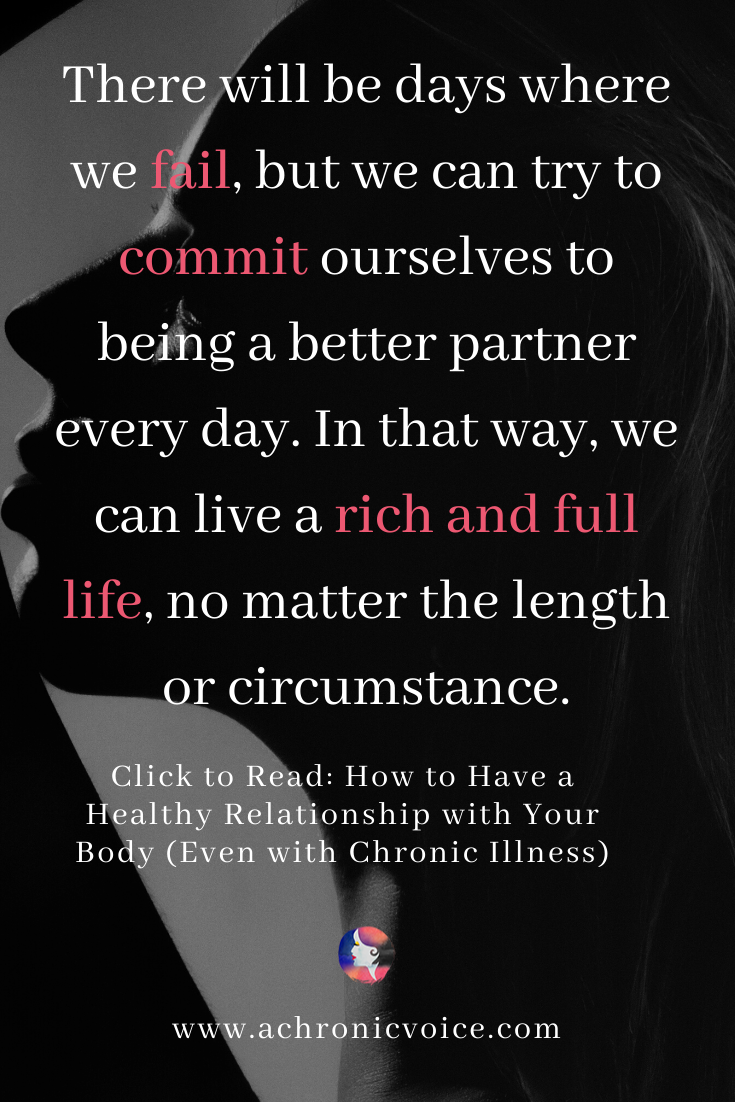 Commitment to Being a Better Partner to Ourselves