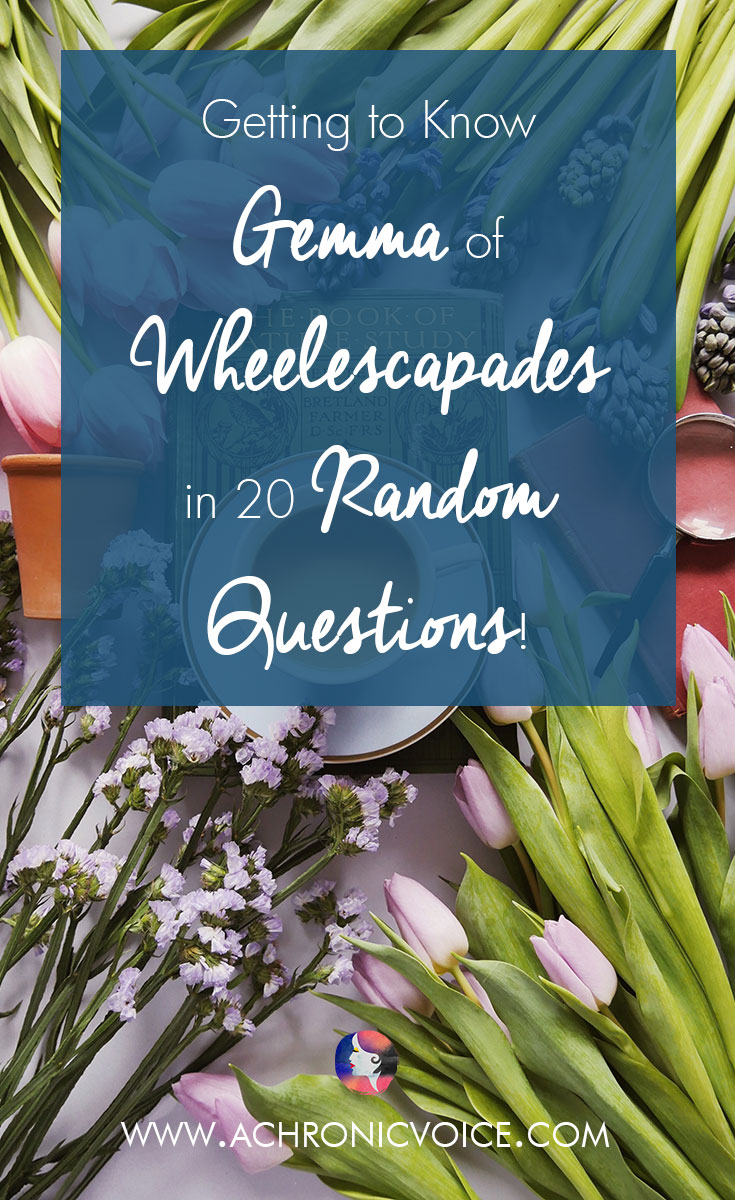"Gemma runs an interesting blog called ""Wheelescapades"", which covers much ground on life with disability and accessibility. Despite being in a wheelchair, she still travels, attends concerts and high tea sessions, and lives a full life. Let's get to know her better with these 20 random questions! Click to read or pin to save for later! 