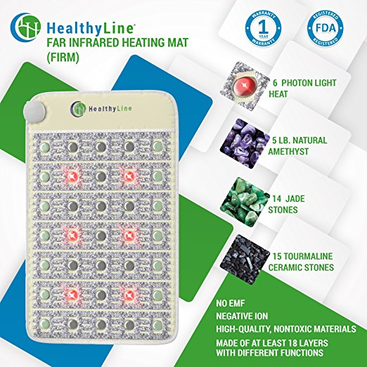 HealthyLine Far Infrared Rays (FIR) Mat with Photon Light Heat.