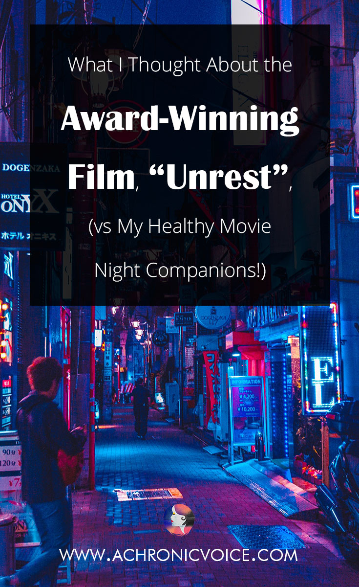 If you had to pick only one film to watch about chronic illness, I would give my vote to 'Unrest'. It documents the life of Jennifer Brea, a Ph.D. student at Harvard, who gets struck down by a mysterious illness called ME/CFS...Click to read review or pin to save for later. | www.achronicvoice.com | #unrestfilm #documentary #movierecommendations #chronicillness #spoonielife #achronicvoice #chronicfatiguesyndrome #MECFS