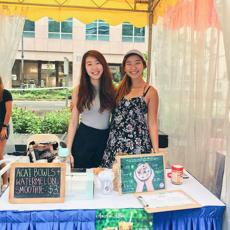 Anna & Isabel, co-founders of An Acai Affair & Harvest, Singapore