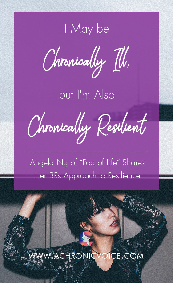 Angela developed her own definition to resilience, and uses it in my training as a person with chronic illness. Her 3Rs to 'Resilience' are: Regenerate when faced with setbacks, stay Robust on challenging days, and Radiate on the good days. Click to read or pin to save for later. | www.achronicvoice.com | #chronicillness #chroniclife #spoonies #achronicvoice #resilience #selfcare
