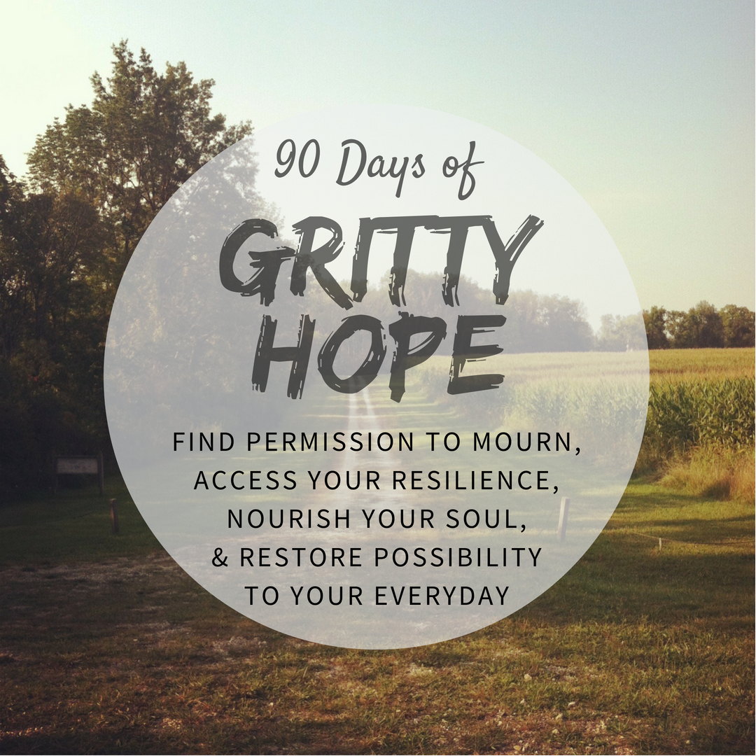 90 Days of Gritty Hope Course: Find permission to mourn, access your resilience, nourish your soul, & restore possibility to your everyday. Enter 'ACHRONICVOICE' enter referral source. | | #achronicvoice #grittyhope #hope #mentalhealth #spoonies #chronicillness #grief #loss