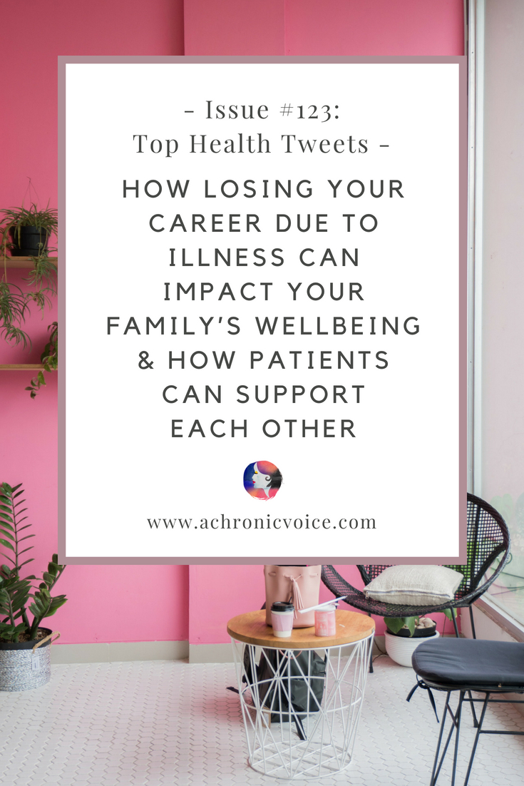 In this issue: The hard reality of losing your career due to illness, and the impact it has on the wellbeing of your family. Labels can be demoralising for any human being, more so those with mental illnesses who are misunderstood. The emotional support and remedies for minor issues other patients can provide to each other.     |     www.achronicvoice.com     |     #achronicvoice #tophealthtweets #healthnews #chronicillness #disability #mentalillness