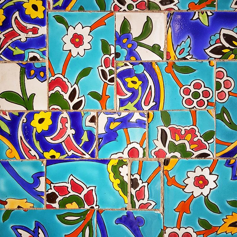 Iran art tiles