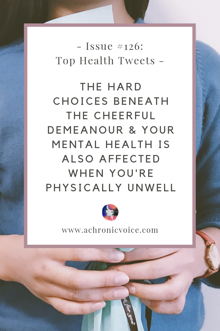 In this issue: Your mental health is affected when you're physically unwell & both need time to recover. Good surprises when you get to know yourself better! ////////// health news / mental health / self care / self awareness / sleep / spoonies / chronic pain #chronicillness #healthcare #tophealthtweets