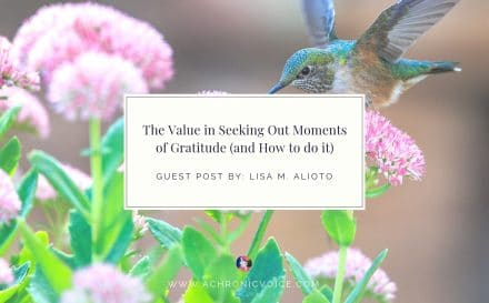 The Value in Seeking Out Moments of Gratitude (and How to do it) | www.achronicvoice.com