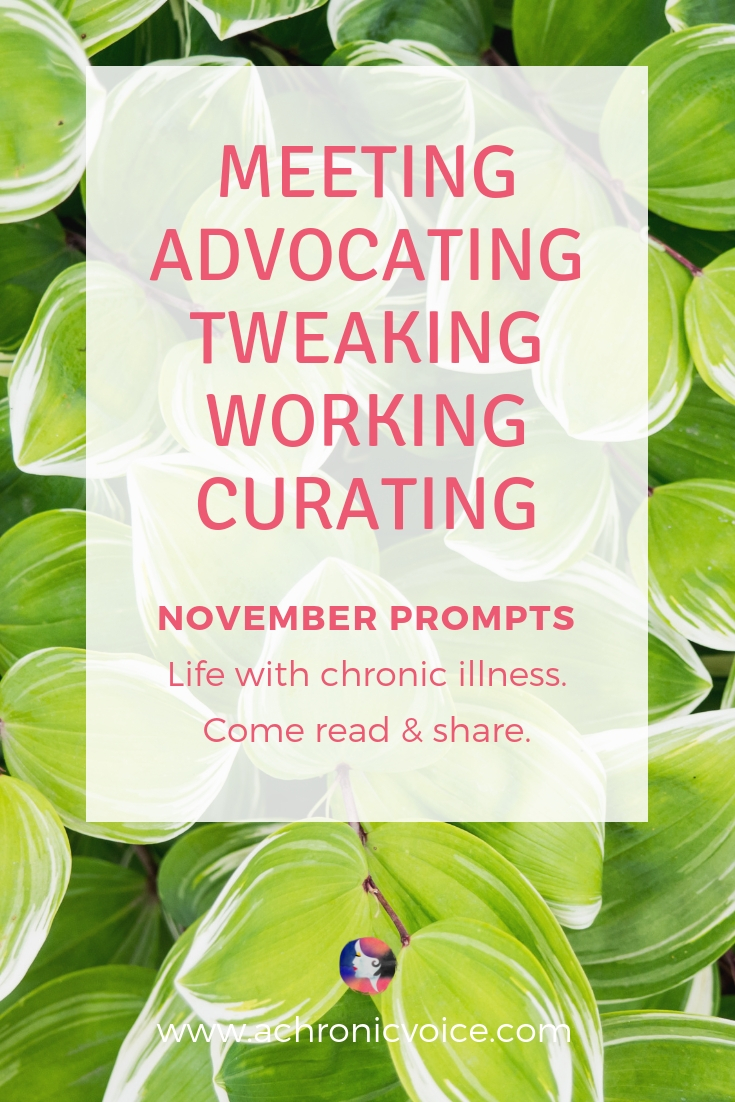 November prompts: Advocacy work both online and offline requires sustainable interaction. Raising awareness requires time, commitment and team work. Click to read more and participate, or pin to save for later. ////////// chronic life / spoonies / self care & awareness / gut health / linkup / writing prompts / bloggers / advocacy / mental health / travel & culture / heath & wellness / healthcare #chronicillness #spoonie #singapore #advocacy #strongertogether