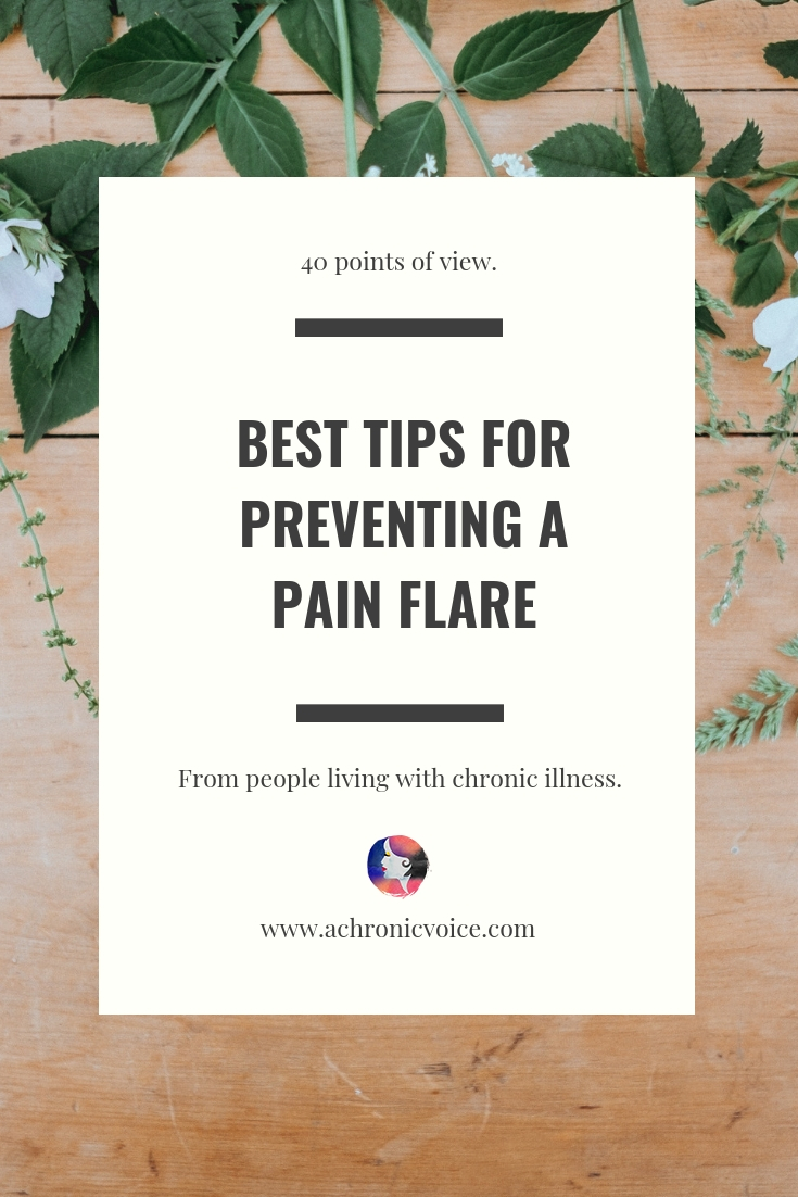 A three-part series all about pain flares caused by chronic illness. 40 people share their best coping strategies to prevent them from happening. Click to read or pin to save for later. ////////// chronic illness / pain flares / flareups / spoonies / pain management / self care & awareness / health & wellness / mental health #chronicIllness #spoonie #painmanagement