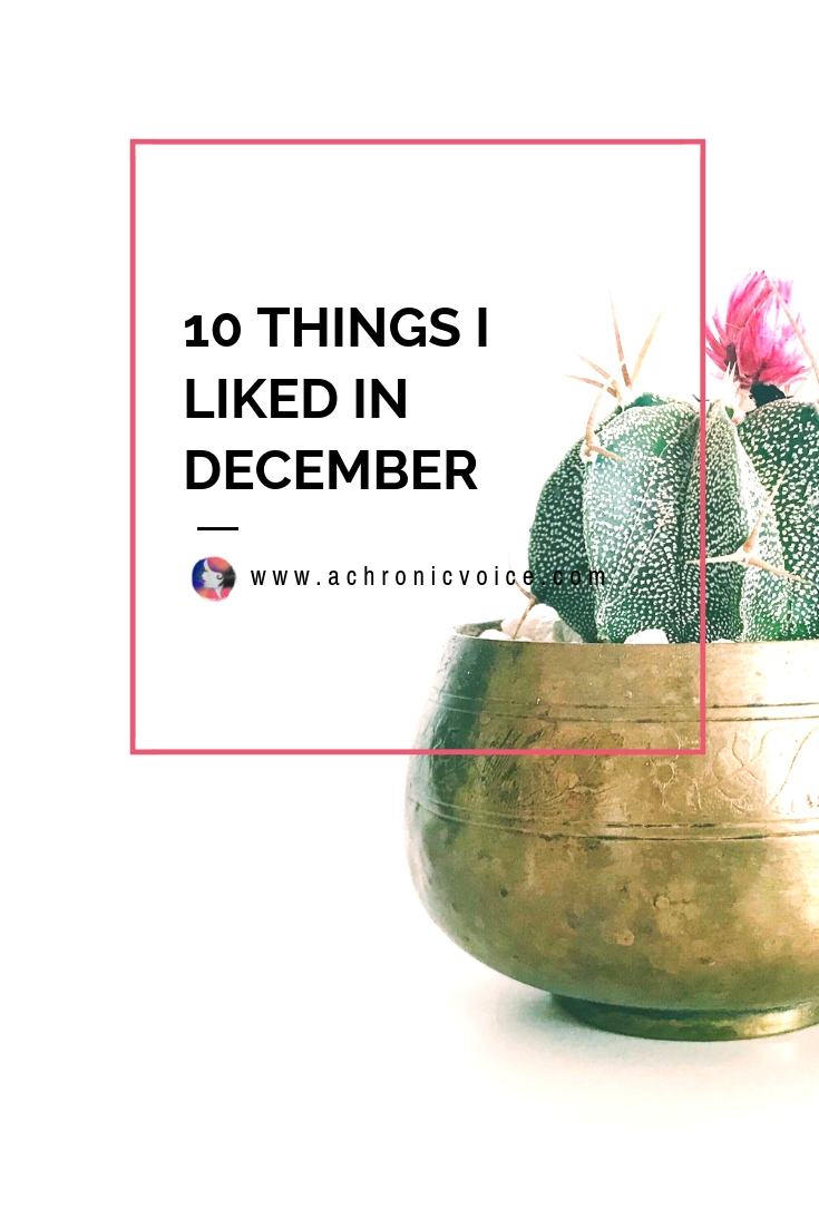 Here are a few of my favourite things from December, from lovely gatherings with friends and family, to good food, music, and other health products. Click to read more or pin to save and share. ////////// Health & Wellness / Chronic Life / Spoonies / Home & Lifestyle / December Favourites / Things I Liked / Music & Film #ChronicIllness #ChronicPain #Spoonie #December #lifestyle