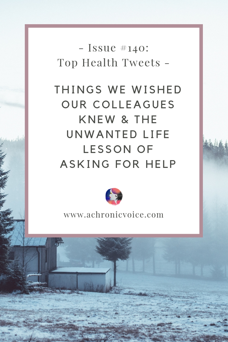 In this issue: Showing some empathy and other tips for being a better friend. The unwanted life lesson of learning how to ask for help. Click to read more or pin to save and share. ////////// Chronic Illness / Pain Management & Relief / Spoonies / Career / Winter / Wish List / Chronic Fatigue Syndrome / Mental Health & Wellness / Health News / Migraines & Headaches #ChronicIllness #ChronicPain #HealthNews #spoonie #MentalHealth