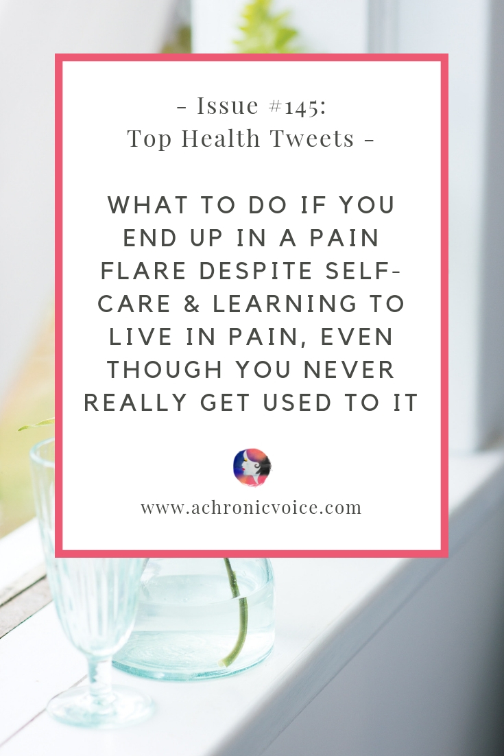 In this issue: What to do when you end up in a pain flare despite self-care? The grief when your partner becomes your caregiver instead of lover. Click to read more or pin to save and share. /////////// Health News / Chronic Illness / Pain Relief / Self-Care / Identity / Awareness / Spoonies / Mental Health / Pain Flares #ChronicIllness #ChronicPain #HealthNews #MentalHealth #spoonie
