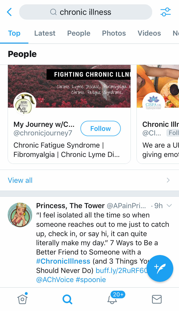Chronic Illness Top Twitter Search | A Chronic Voice