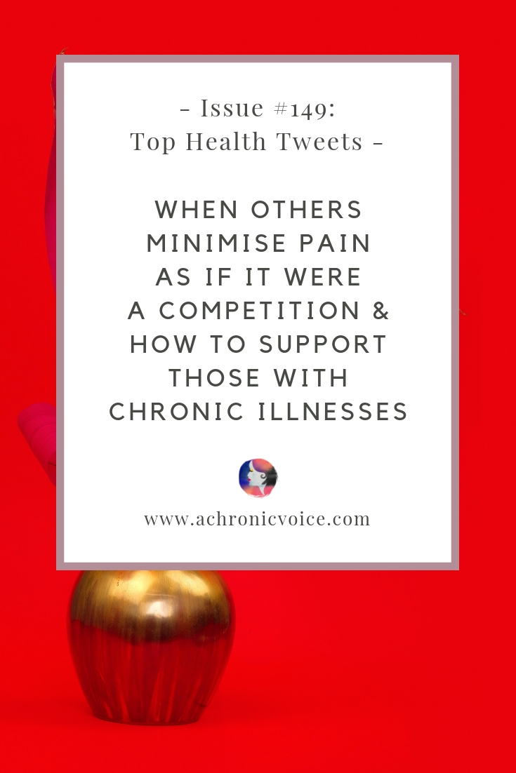 In this issue: You never know what someone is going through & how to support those with chronic illnesses. The unnecessary shame felt for taking pain meds. Click to read more, or pin to save and share. ////////// Chronic Illness / Health & Wellness / Mental Illness / Chronic Pain / Chronic Fatigue / Society & Culture / Health News #healthnews #chronicillness #spoonie #medical